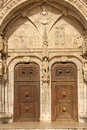 Entrance to the monasteiro dos jeronimos lisbon portugal detail of Royalty Free Stock Images