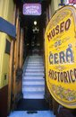 Entrance to The Museo de Cera HIstorico, Historical Wax Museum at Ala Boca, art area for tourists in Buenos Aires, Argentina