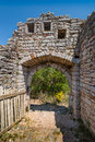 Entrance to the old fortress of Sutomore town Royalty Free Stock Photo