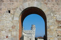 Entrance to piazza dei miracoli in Pisa Royalty Free Stock Photos