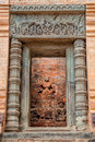 Entrance to prasat kravan in cambodia siem reap is a small th century hindu temple angkor archeological park dedicated Royalty Free Stock Image