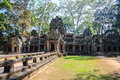 Entrance to prasat ta prohm in angkor wat siem reap cambodia Royalty Free Stock Photo