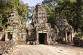 Entrance to Preah Khan Temple Royalty Free Stock Image