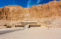 The entrance to Queen Hatshepsut'stemple in Luxor, Egypt Stock Photography
