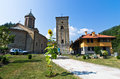 Entrance to Rača monastery established in 13. century Royalty Free Stock Photo