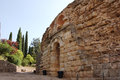 Entrance to the Roman amphitheatre Royalty Free Stock Photo