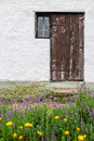 Entrance to a rural house with garden in front of it gotland sweden Royalty Free Stock Image