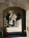 Entrance to the Süleymaniye Mosque garden Royalty Free Stock Photo
