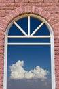 Entrance to the sky brick wall. Royalty Free Stock Photo