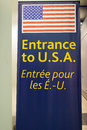 Entrance to the us pearson international airport one of largest and busiest airport in world about planes take off or land in a Royalty Free Stock Photography
