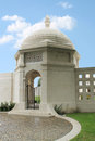Entrance to ww indian army memorial at neuve chapelle france pavilion chhatri the the commemorates those Stock Images