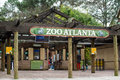 Entrance to zoo atlanta december the houses more than animals and welcomed roughly visitors a year Royalty Free Stock Photo