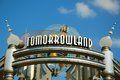 Entrance of tomorrowland leading to in disney s magic kingdom orlando florida Royalty Free Stock Photography