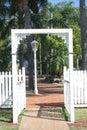 Entrance trädgården Arkivbild