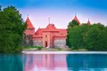 Entrance of trakai castle main tower and one most famous places in lithuania Stock Image