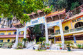 Entrance view of the sam poh tong temple which is located at gunung rapat in the south of ipoh malaysia july Stock Image