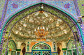 Entrance of Zaid Mosque in Tehran Grand Bazaar Royalty Free Stock Photo