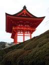 Entrata al tempiale di Kiyomizu-dera - Kyoto, Giappone Immagini Stock Libere da Diritti