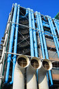 Entre georges pompidou in paris france october centre france the postmodern structure completed is one of most recognizable Royalty Free Stock Image