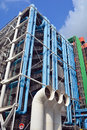 Entre georges pompidou in paris france october centre france the postmodern structure completed is one of most recognizable Stock Images