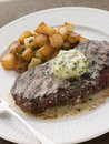 Entrecote de Beouf' with Roquefort Butter Royalty Free Stock Photography