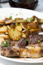 Entrecote steak diinner ajaccio corsica france Royalty Free Stock Photos