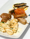 Entree Tasting Plate Royalty Free Stock Image