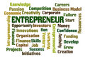 Entrepreneur word cloud on white background Stock Photo