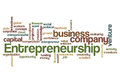 Entrepreneurship word cloud concept isolated on white Stock Photo