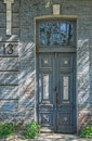 Entry in an ancient history building old architectural details dnepropetrovsk city ukraine Royalty Free Stock Image