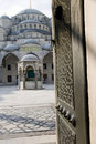 Entry Blue Mosque Istanbul Turkey Royalty Free Stock Photography