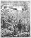 Entry of jesus into jerusalem picture from the holy scriptures old and new testaments books collection published in stuttgart Stock Photo