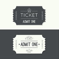 Entry ticket to old vintage style hipster logo admit one theater cinema zoo swimming pool fair rides swing amusement park carousel Stock Image
