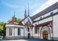 Entry to Franziskan church in Luzern - Switzerland Royalty Free Stock Photo