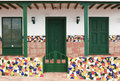 Entry to house  with ceramic tiles Royalty Free Stock Images