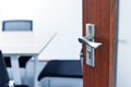 Entry to the meeting room Stock Photography