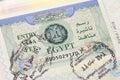 Entry Visa in Egypt Royalty Free Stock Photo