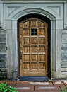 Entry way image of an oak door wat Royalty Free Stock Image