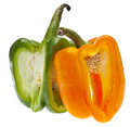 Entwined Bell Peppers Stock Photography