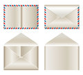 Envelop set of illustrations on white background Stock Image