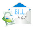 Envelope and bill documents illustration design over white Stock Photos