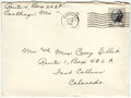 Envelope cancelled postage letter front of a mailed in george washington five cent stamp sent from carthage missouri to fort Royalty Free Stock Images