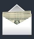Envelope dollars vector II
