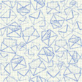 Envelope doodles seamless pattern illustration of on squared school paper Stock Images