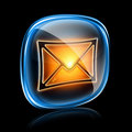 Envelope icon neon. Stock Photos