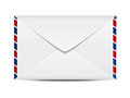 Envelope icon on white background Stock Photo