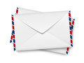 Envelope icon on white background Stock Image