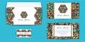 Envelope, Invitation and Visit Card Royalty Free Stock Photo