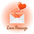 Envelope with Love Message, vector illustration.