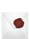 Envelope wax seal vector illustration Stock Photo